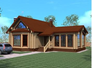 Типовой проект дома из бревна