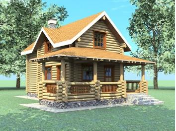 Типовой проект домов из оцилиндрованного бревна