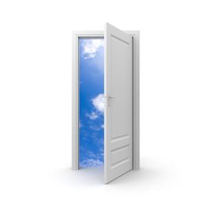 распашные двери белые