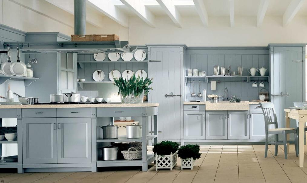 балки интерьер кухни