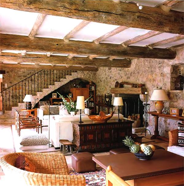 балки потолок