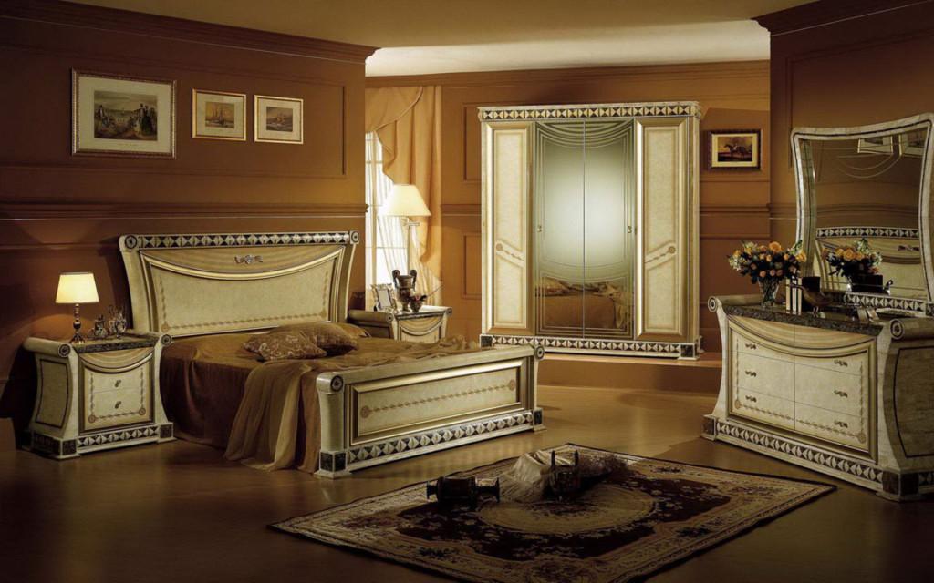 дизайн интерьера спальня классика