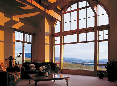 окна деревянные арочные