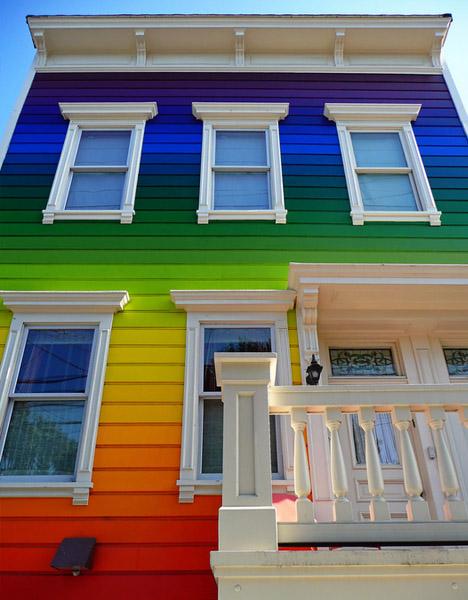 фасад дома разноцветный