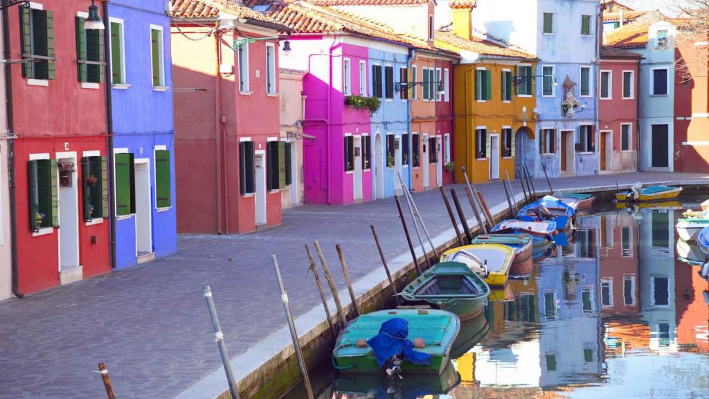 разноцветные дома