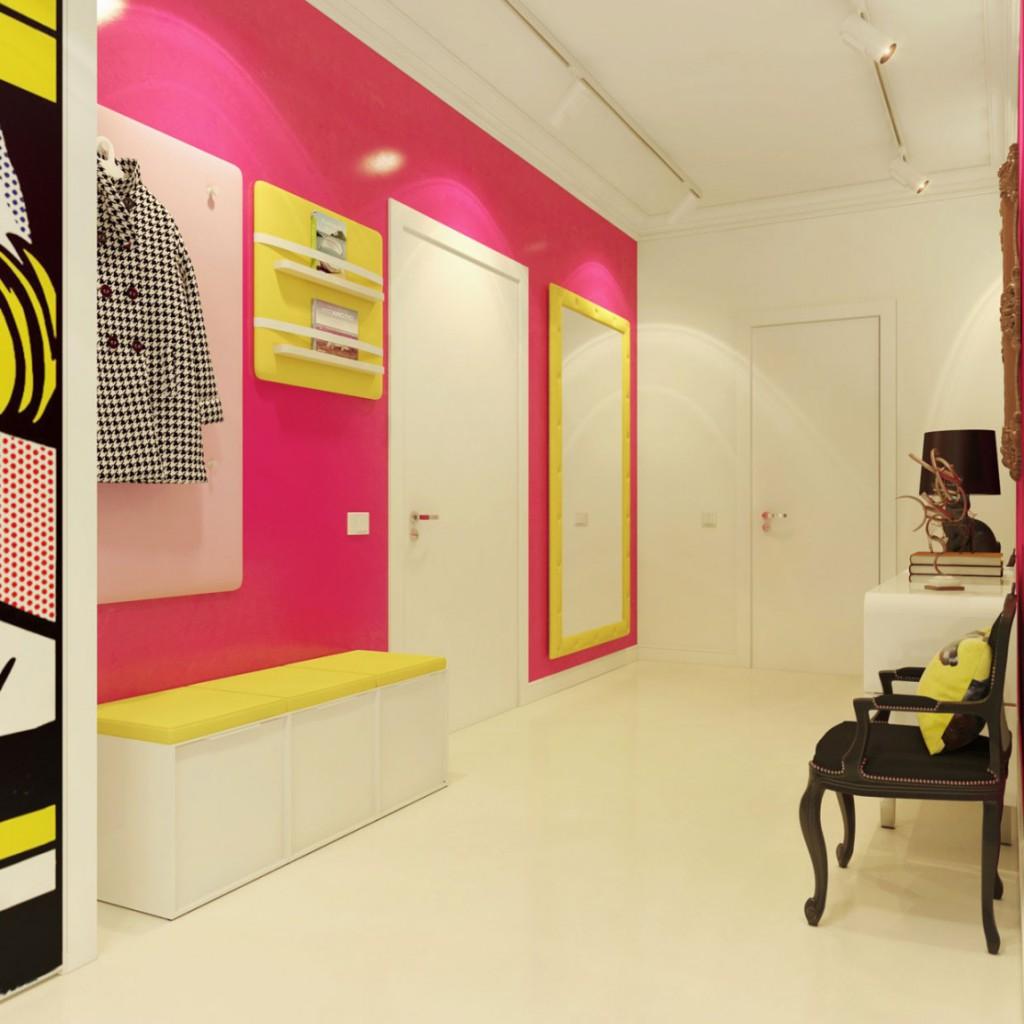 дизайн помещения розовый