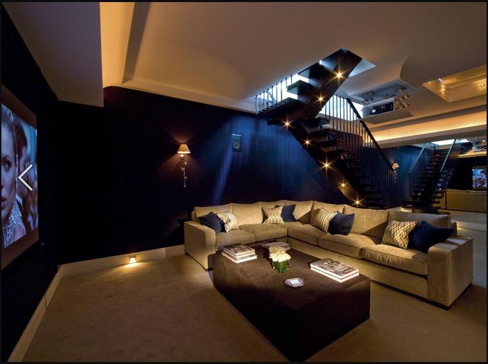 флок стены домашнего кинотеатра