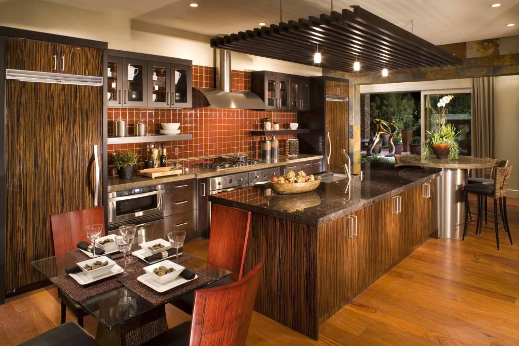 интерьер кухни стиль модерн