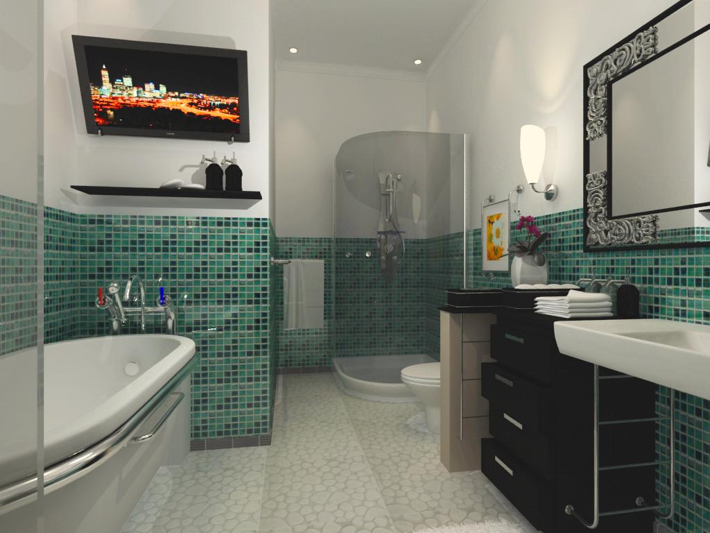 интерьер ванной мозаика