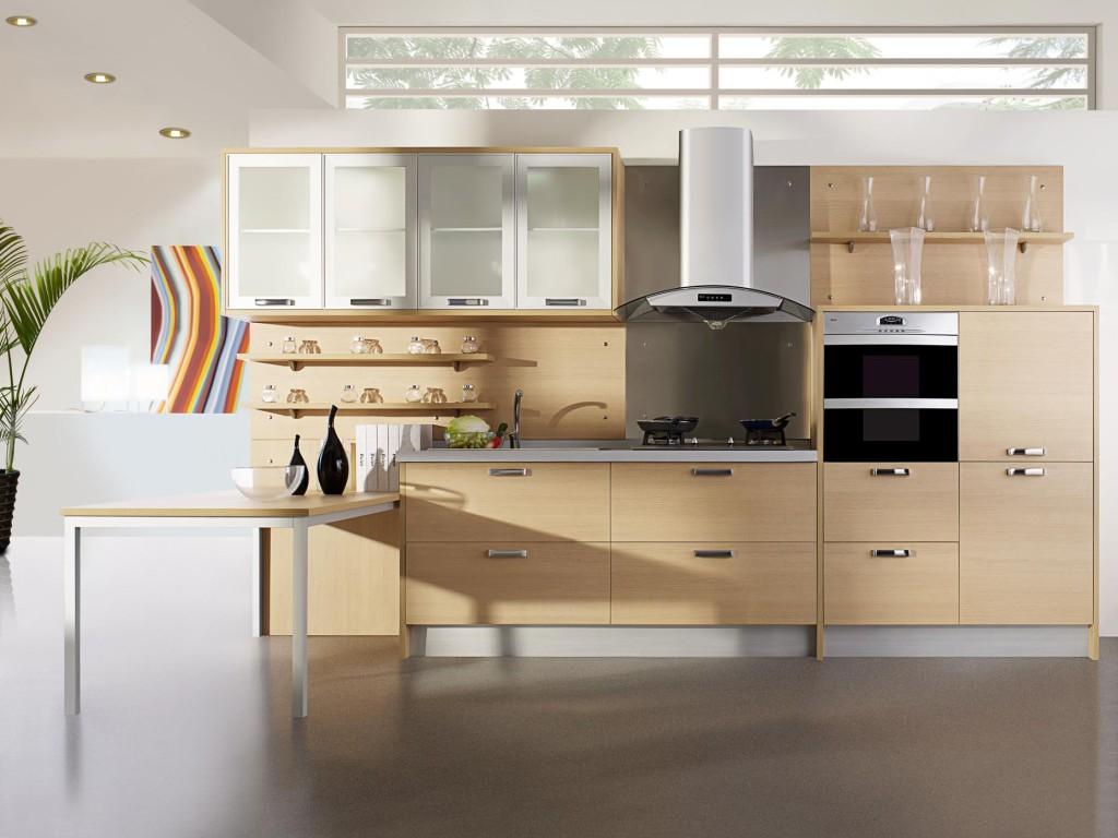 кухня модерн деревянная