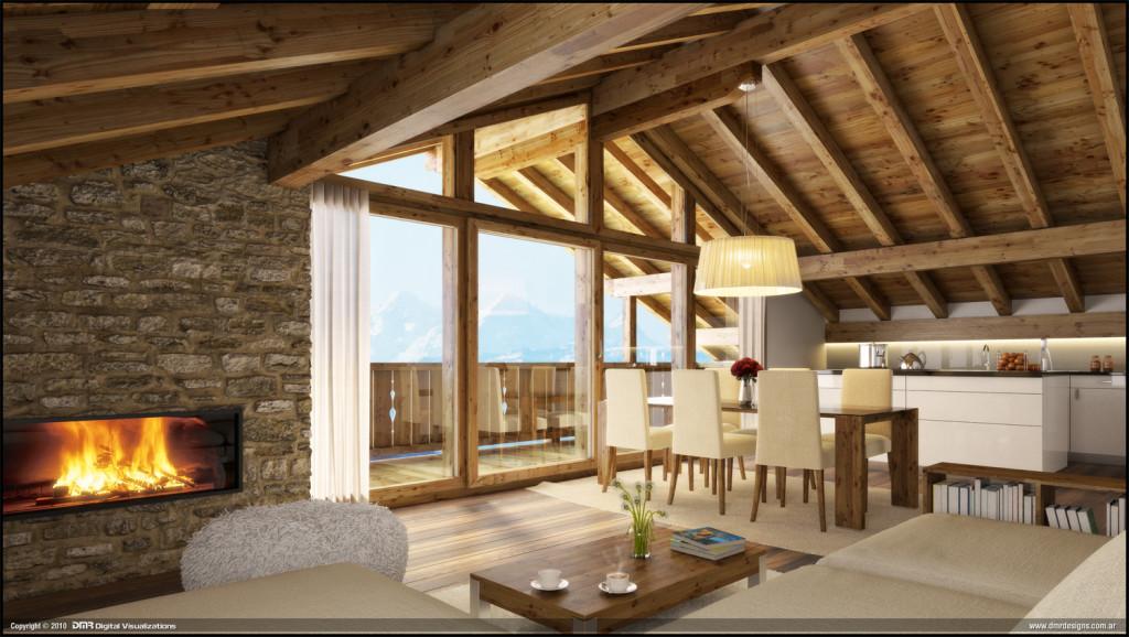 деревянный дом балки
