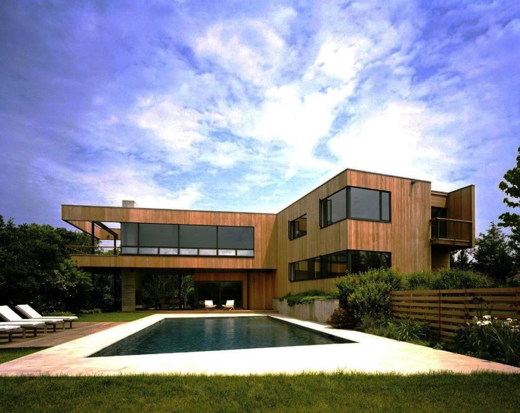 дом деревянный модерн