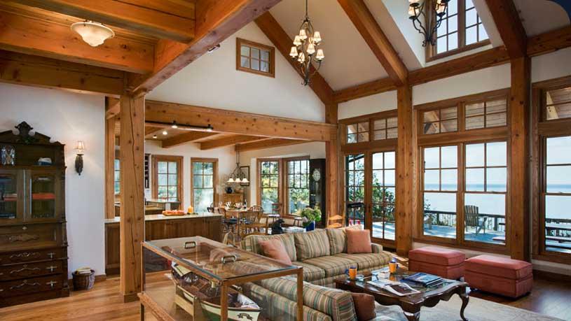 интерьер деревянные балки