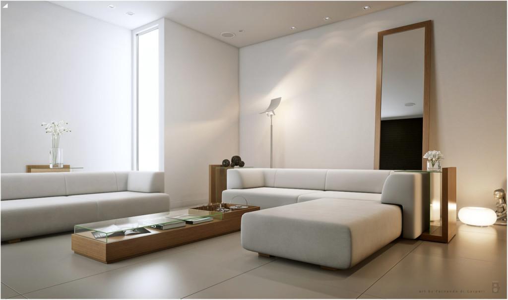 интерьер коттеджа белые стены потолки