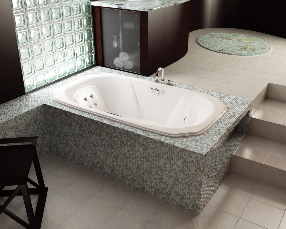 многоуровневый пол ванная