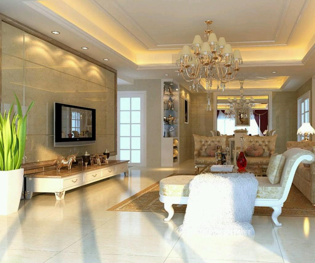 гостиная с многоуровневыми потолками