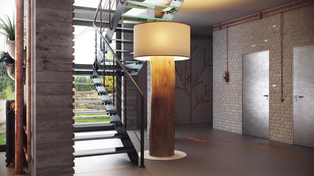 лофт интерьер дома