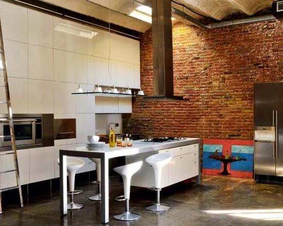 лофт проект кухни