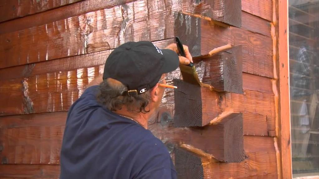 обработка древесины дома