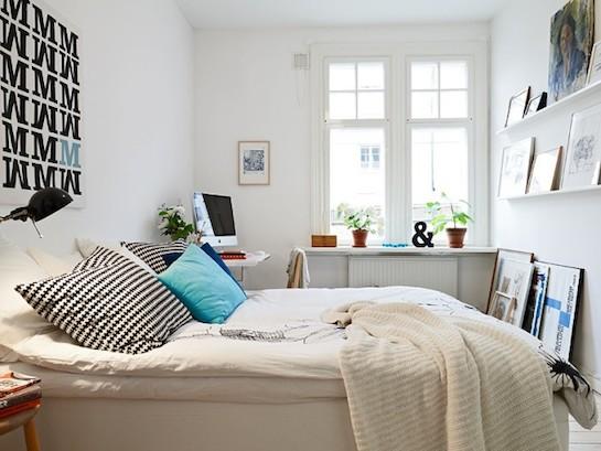 фьюжн спальня светлая