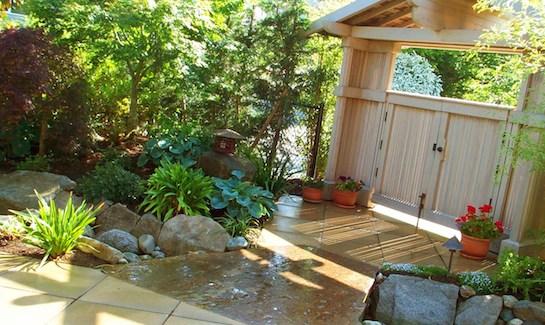 ландшафтный дизайн камни водоем