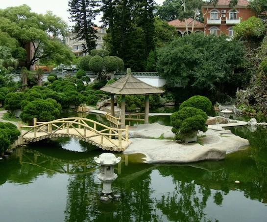 ландшафтный дизайн китайский стиль пруд