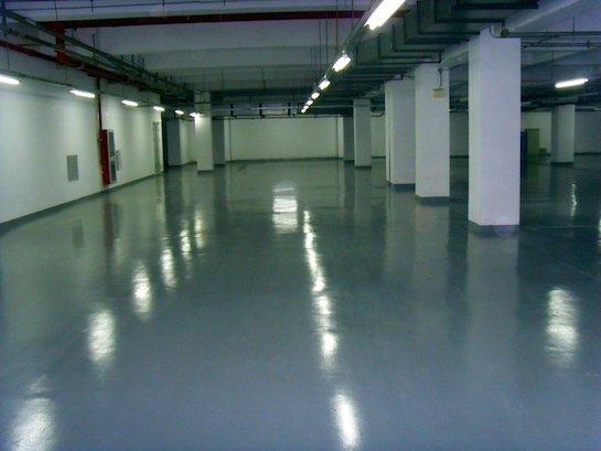 наливной пол подземный гараж