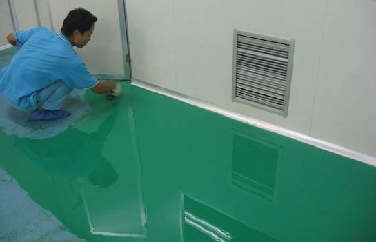 наливной пол зеленый
