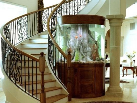 аквариум напольный круглый