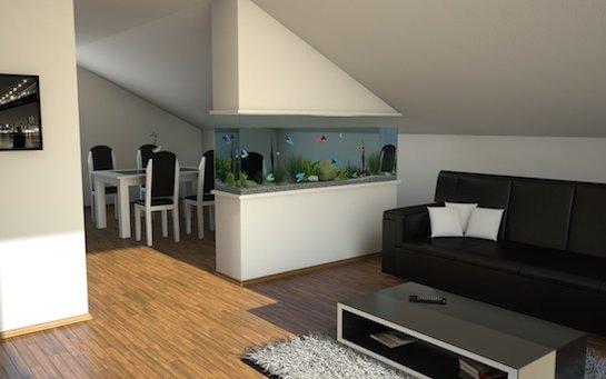аквариум на мансарде