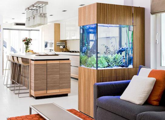 аквариум встроенный кухня