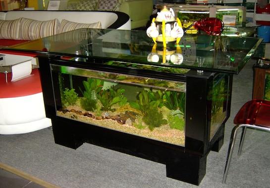 аквариум напольный черный