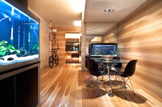 проект комнаты с аквариумом