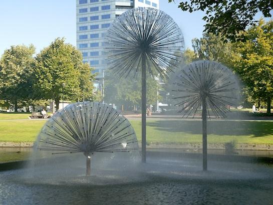 фонтан шары