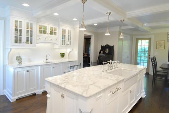 мрамор в кухне