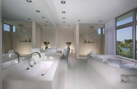 мраморная ванная белая