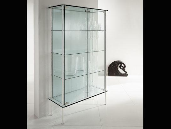 стеклянный стеллаж