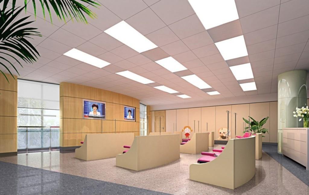 потолок из панелей с подсветкой