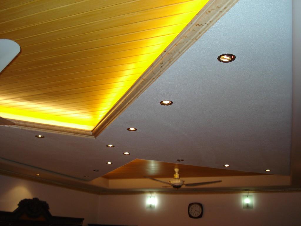 потолок разноуровневый с подсветкой