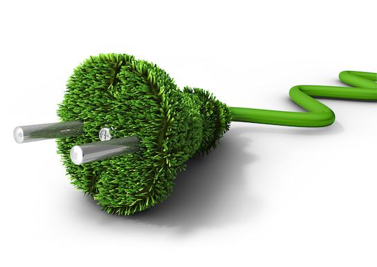 зеленая электрическая вилка