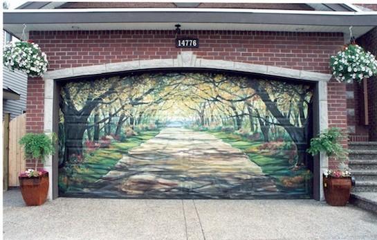 гаражные ворота красивые