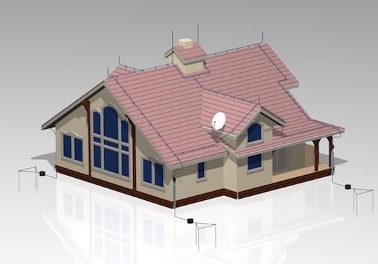 проект молниезащиты дома