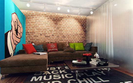 комната поп арт
