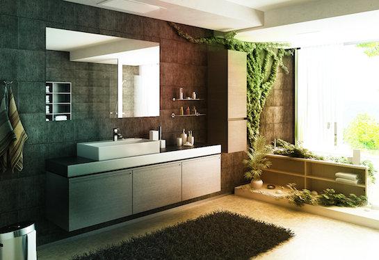 натуральный ковер ванная