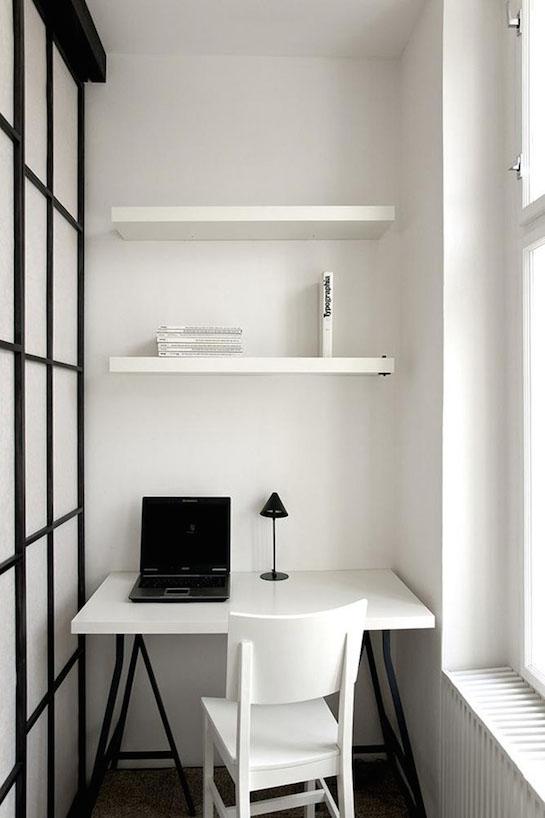 стиль минимализм рабочий стол