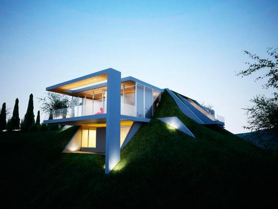 дом в холме