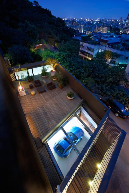 веранда на крыше